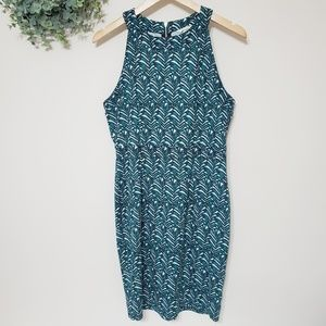 H&M Palm Leaf Sleeveless Midi Dress Size Med